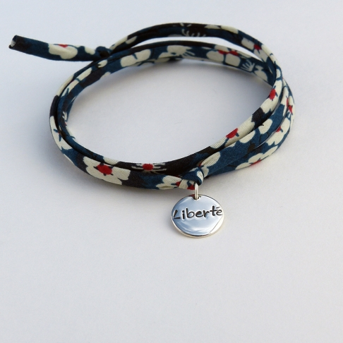 """Pastille """"Liberté"""" sur cordon Liberty"""