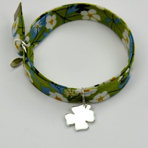 Trèfle sur bracelet Liberty