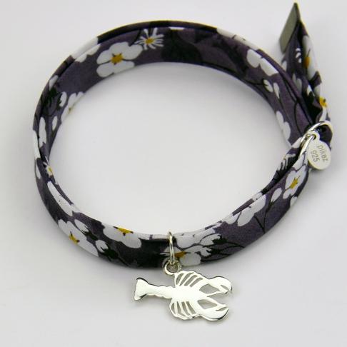 Charms Homard sur bracelet Liberty