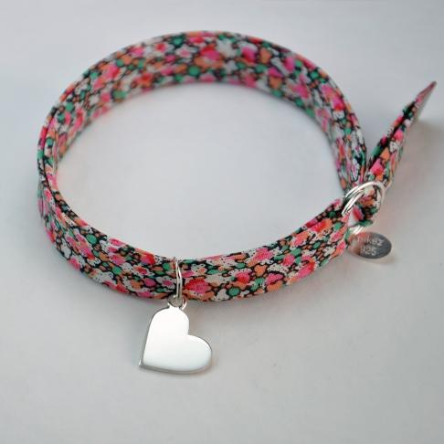 Coeur sur bracelet Liberty
