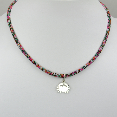 Crabe sur collier Liberty