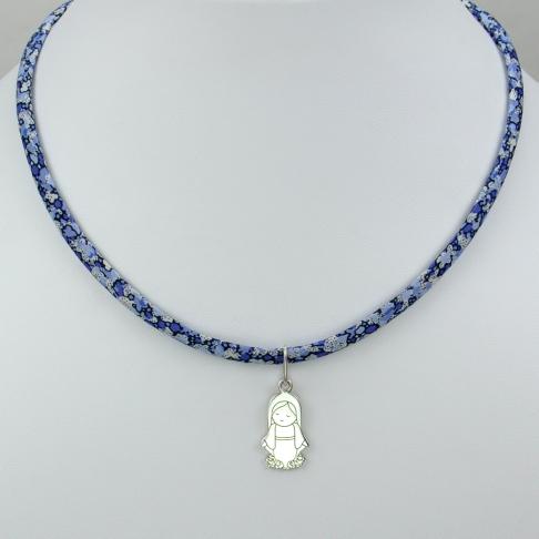 Vierge Marie sur collier Liberty