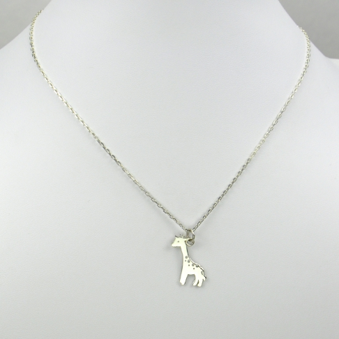 Charms Girafe sur chaîne argent