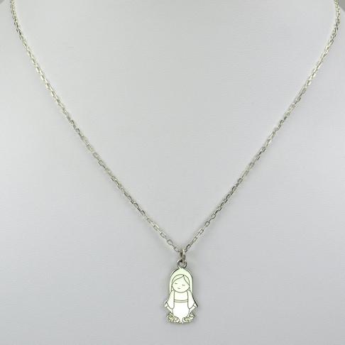 Vierge Marie sur chaîne argent