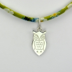 Hibou sur collier Liberty