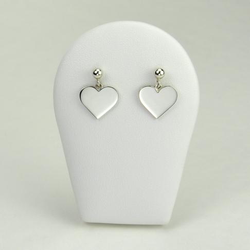 Coeurs en boucles d'oreilles
