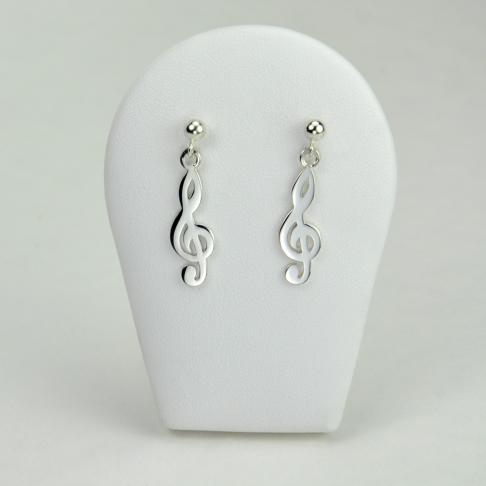 Clefs de sol en boucles d'oreilles