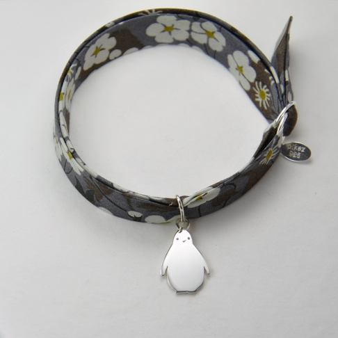Pingouin sur bracelet Liberty