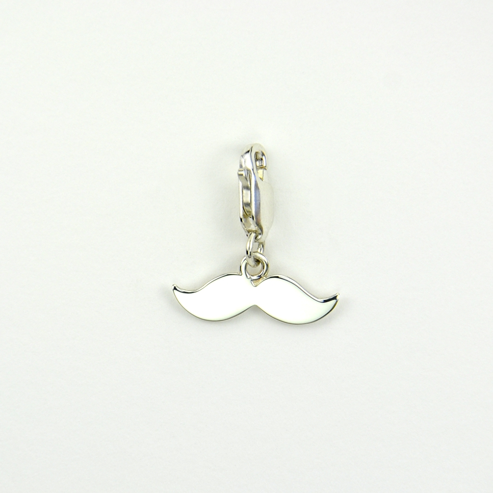 Charms Moustaches sur mousqueton