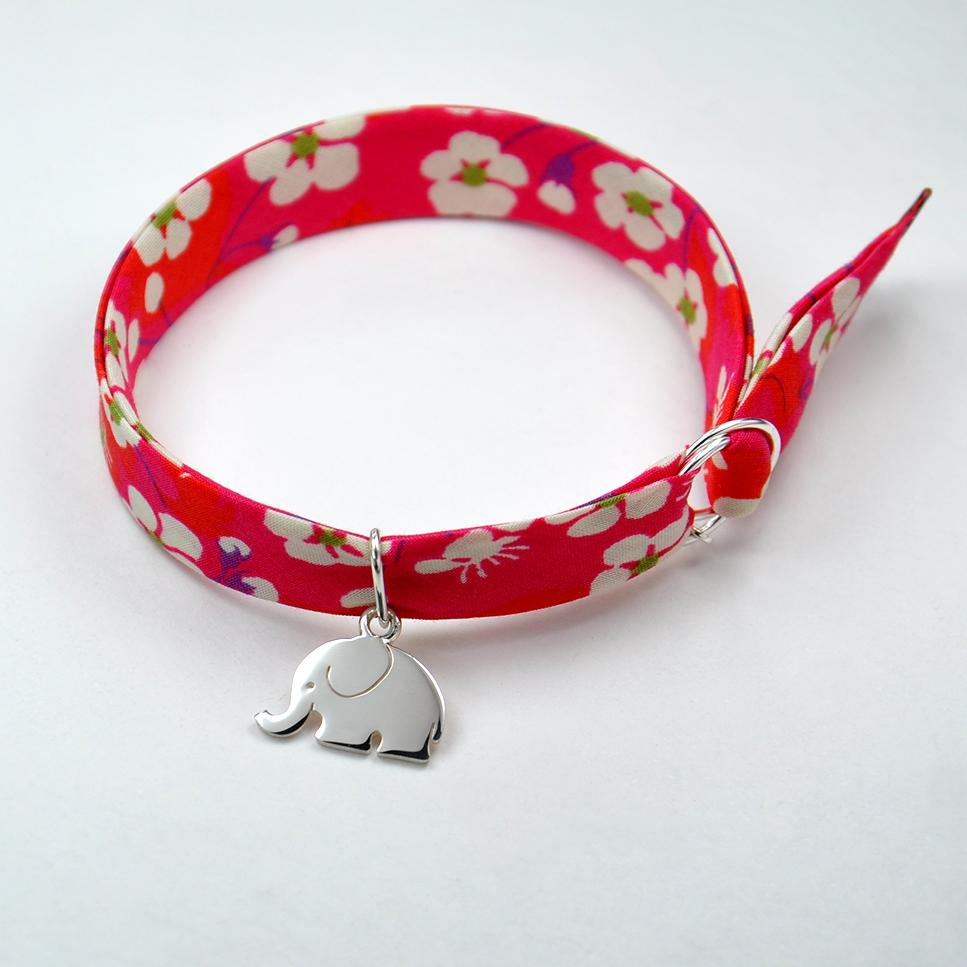 Charms Eléphant sur bracelet Liberty