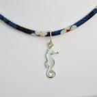 Pendentif Hippocampe sur collier Liberty