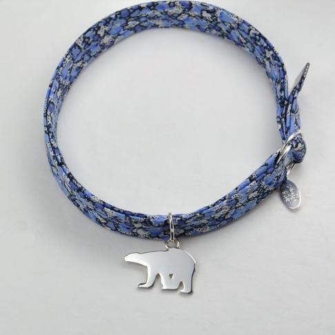 Ours polaire sur bracelet Liberty