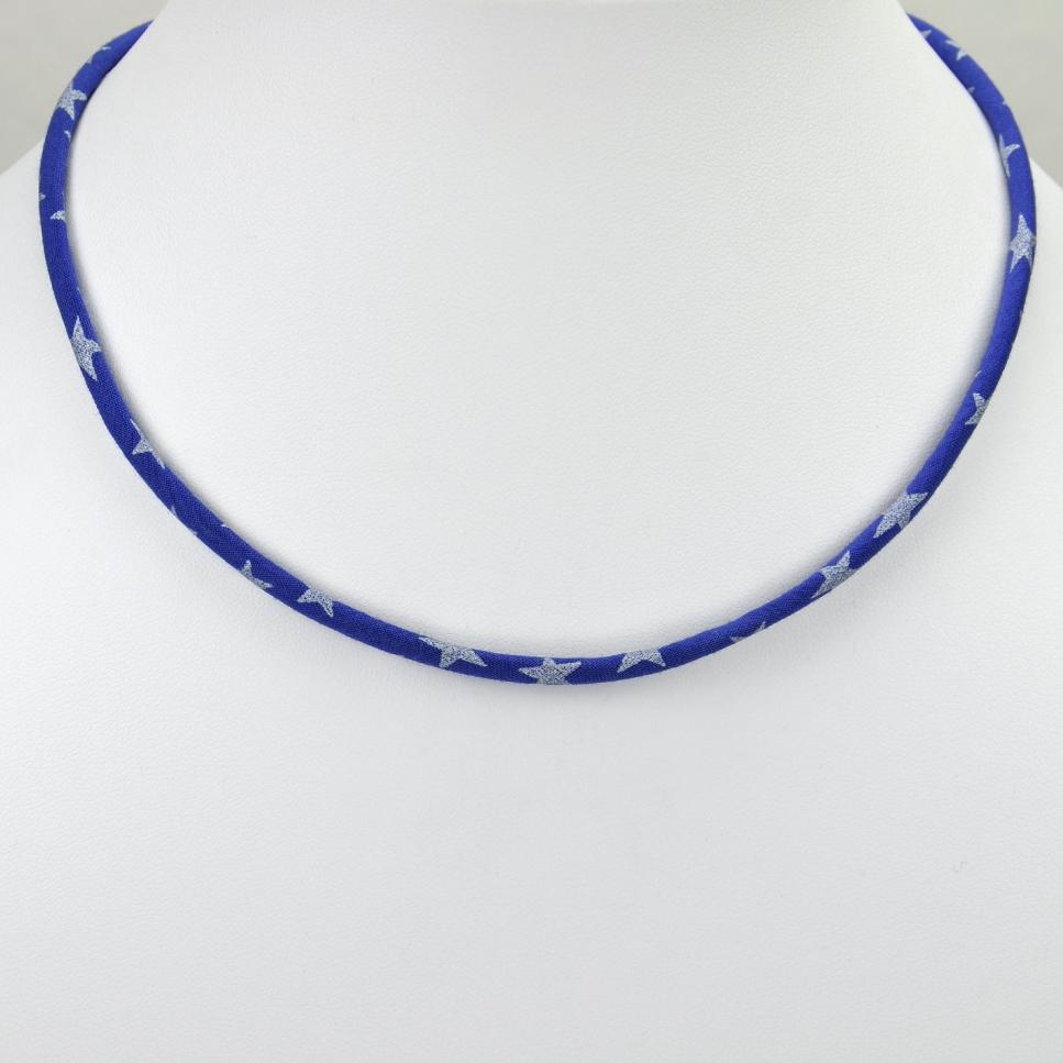 Collier Etoile bleu