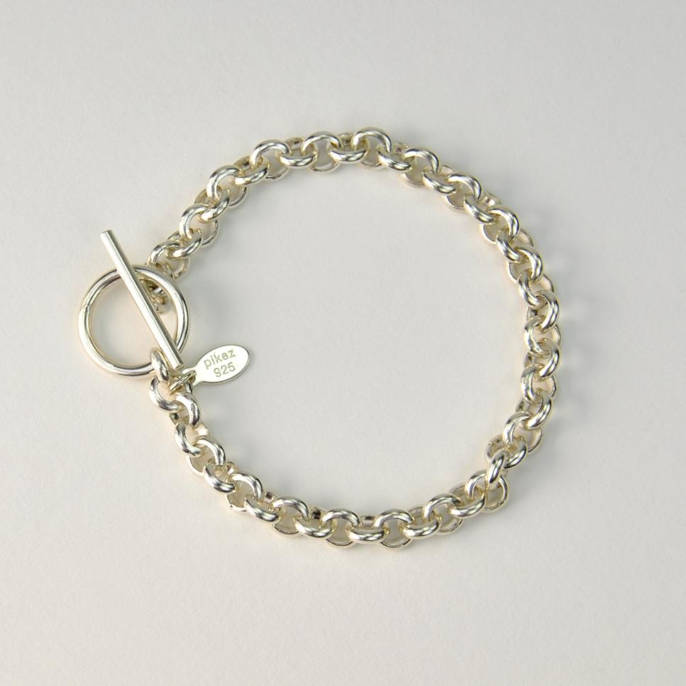Bracelet mailles argent