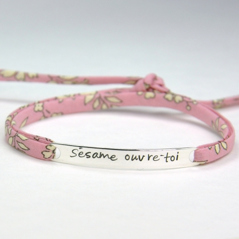 """Bracelet message """"Sésame ouvre-toi"""""""