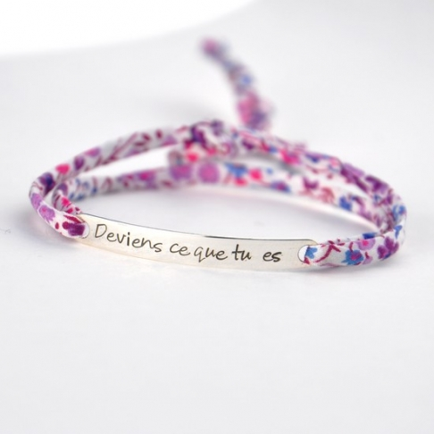 """Bracelet message """"Deviens ce que tu es"""""""