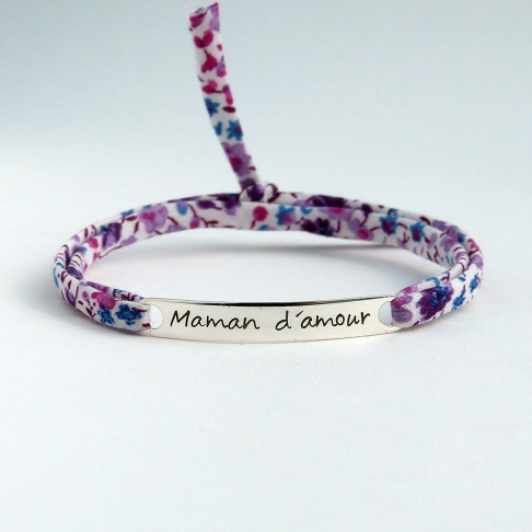 "Bracelet message ""Maman d'amour"""