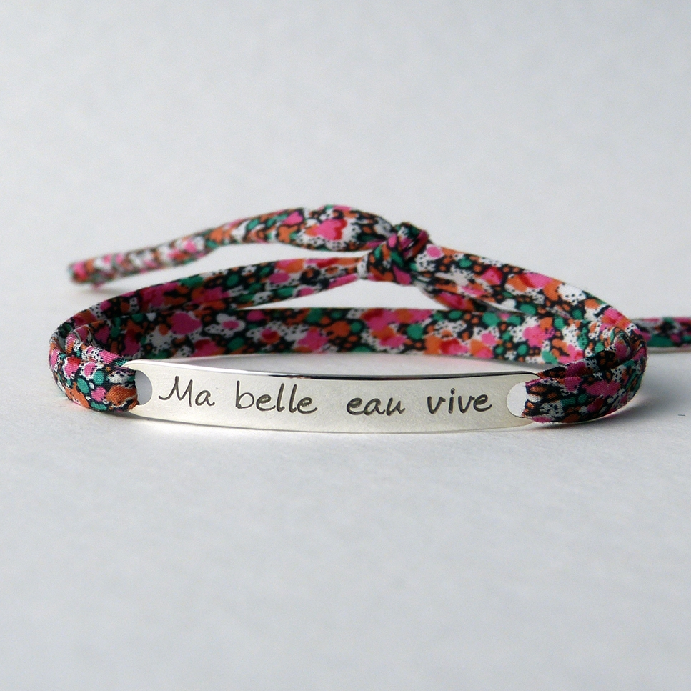 "Bracelet message ""Ma belle eau vive"""