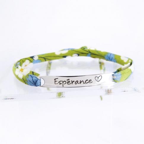 "Bracelet message ""Espérance"""