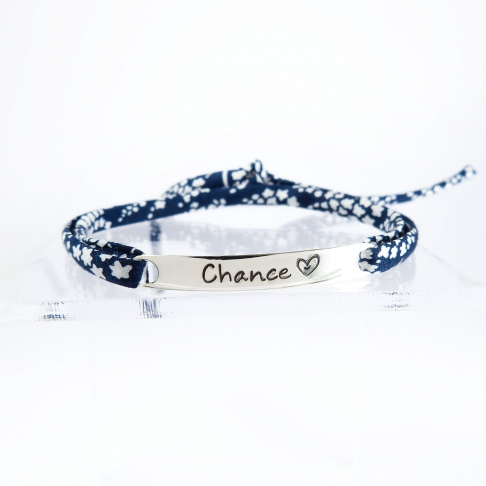 "Bracelet message ""Chance"""