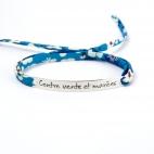 """Bracelet message """"Contre vents et marées"""""""