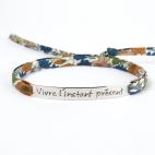 """Bracelet message """"Vivre l'instant présent"""""""