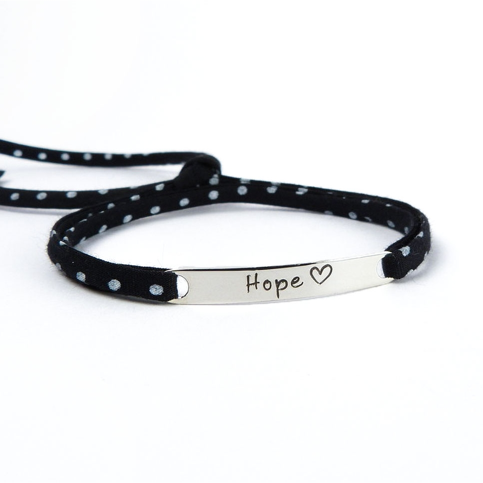 "Bracelet message ""Hope"""