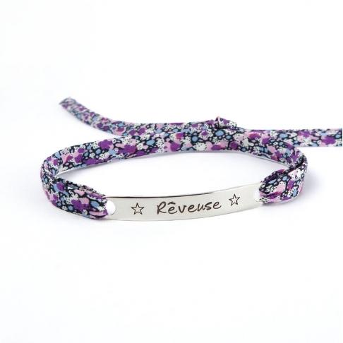 "Bracelet message ""Rêveuse"""