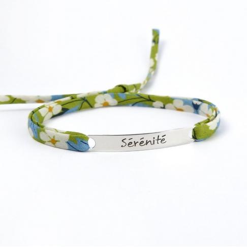 """Bracelet message """"Sérénité"""""""