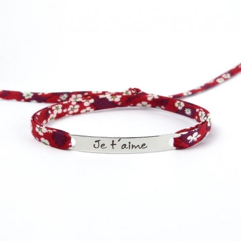 """Bracelet message """"Je t'aime"""""""