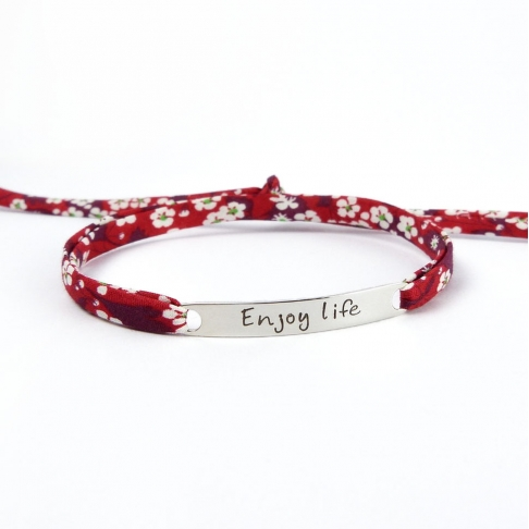"Bracelet message ""Enjoy life"""