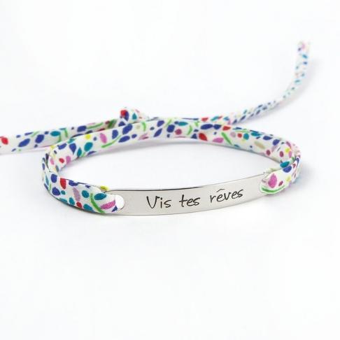 """Bracelet message """"Vis tes rêves"""""""