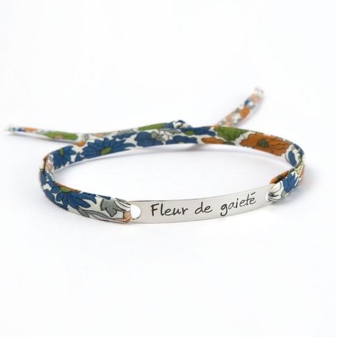 """Bracelet message """"Fleur de gaieté"""""""