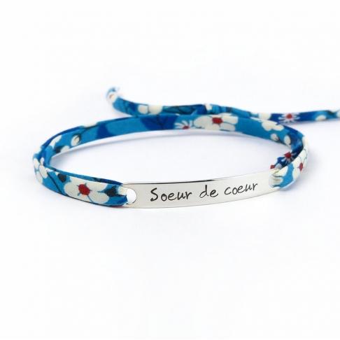 """Bracelet message """"soeur de coeur"""""""