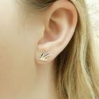 Boucles d'oreille puce Hirondelle