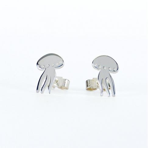 Boucles d'oreilles puce Méduse