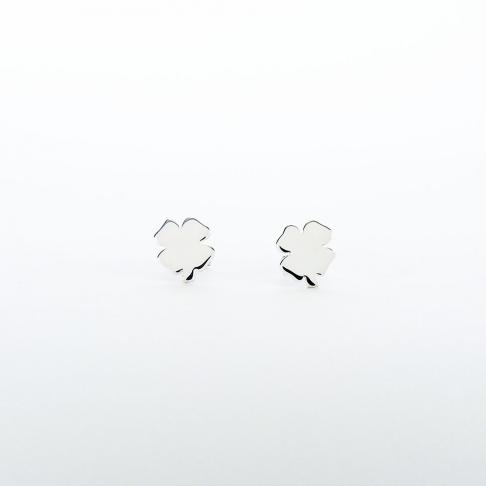 Boucles d'oreilles puce Trèfle