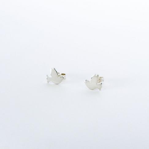 Boucles d'oreilles puce Colombe