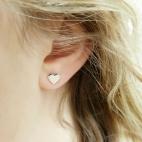 Boucles d'oreilles puce Coeur