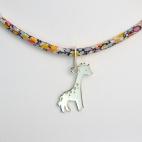 Girafe sur collier Liberty