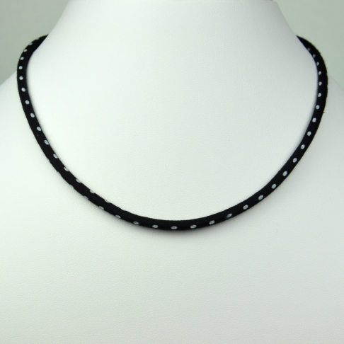 Collier Liberty Pois noir