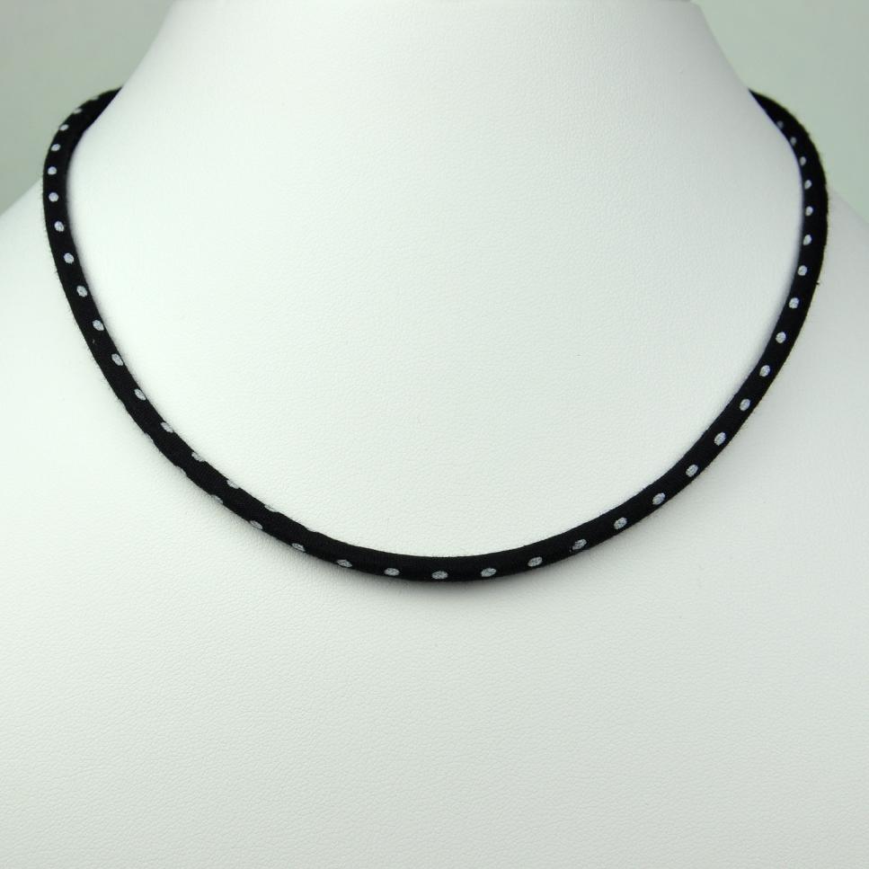 Collier Liberty Pois noir