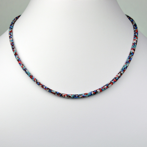Collier Liberty Pepper rouge/bleu