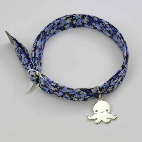 Petite pieuvre sur bracelet Liberty