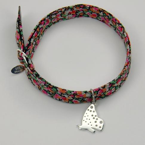 Papillon sur bracelet Liberty