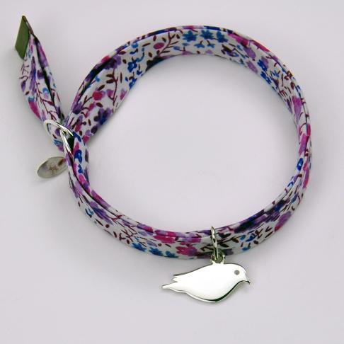 Oiseau sur bracelet Liberty
