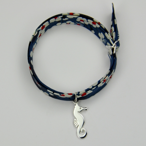 Hippocampe sur bracelet Liberty