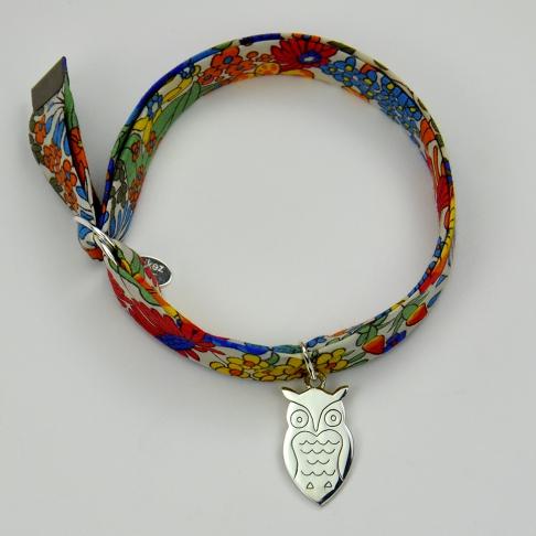 Hibou sur bracelet Liberty
