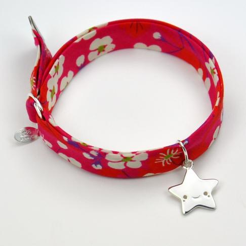 Etoile souriante sur bracelet Liberty
