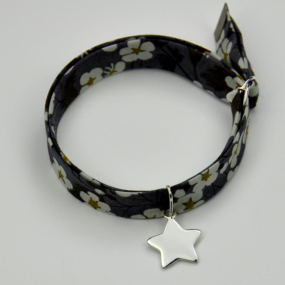 Etoile sur bracelet Liberty